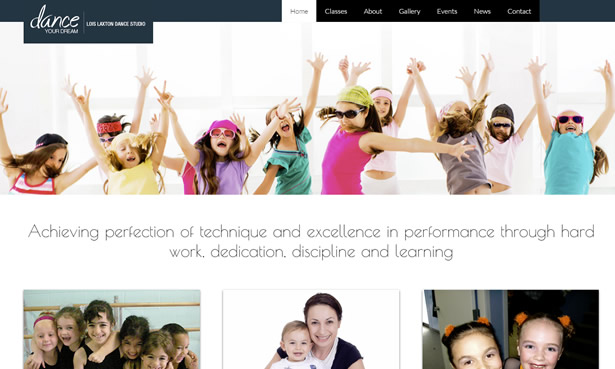 Lois Laxton Dance Studio website design